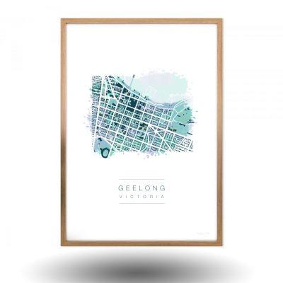 Geelong Victoria Map Art