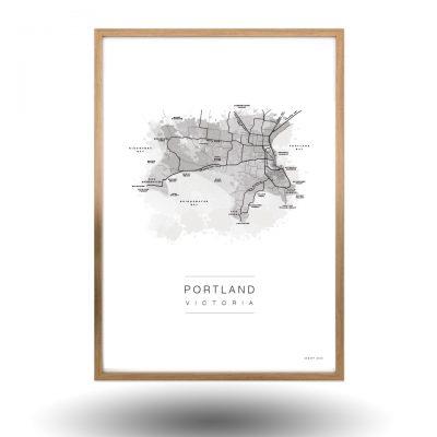 Portland Victoria Map Art
