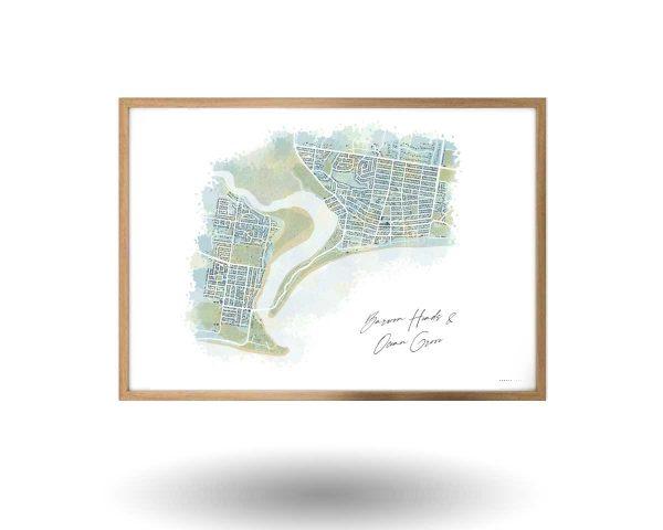 Barwon Heads Ocean Grove Map Art